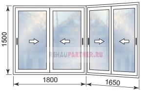Цены на окна из алюминия на балкон