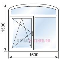 Цены на арочные пластиковые окна