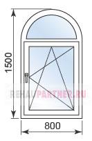 Цены на полукруглые арочные окна