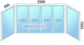 Остекление системой раздвижных окон