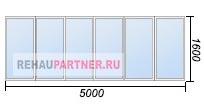 Остекление балкона или лоджии 5 метров по низкой цене
