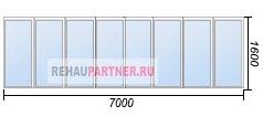 Застеклить балкон 7 метров по низкой цене