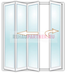 Дверь гармошка на балкон