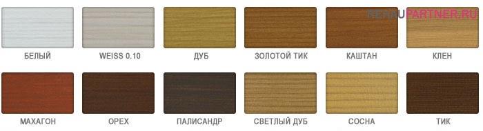 Цвета деревянных окон