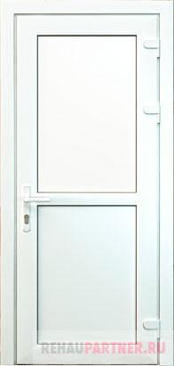 Глухие пластиковые двери
