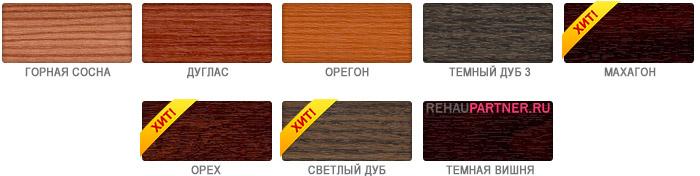 Окна ПВХ коричневого цвета