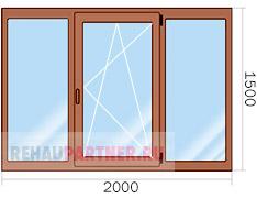Цена на ламинированные окна ПВХ