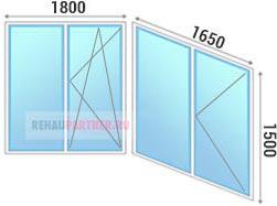 Остекление лоджий окнами ПВХ