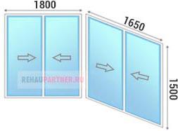 Остекление лоджий раздвижными окнами Slidor