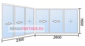 Остекление лоджии раздвижными окнами Slidors