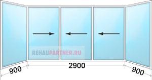 Цена на раздвижные алюминиевые окна на балкон