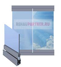 Безрамные окна для загородного дома