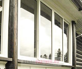 Остекление террасы раздвижными конструкциями