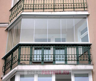 Безрамные окна на балкон