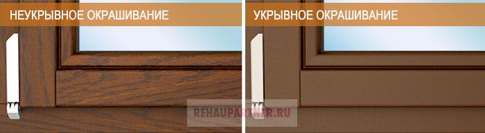Виды окрашивания деревяных окон