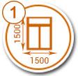 Выбрать размеры окна на калькуляторе стоимости