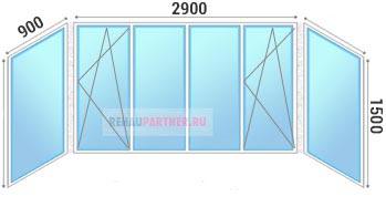 Сколько стоит застеклить балкон 3 метра пластиком