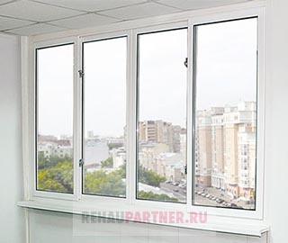 Раздвижное ПВХ остекление балкона серия П-44