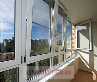 Теплое остекление балкона дома П-44