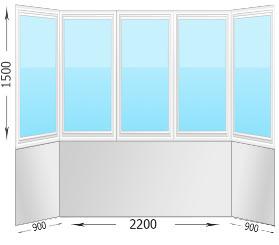Остекление и  утепление балконов цена