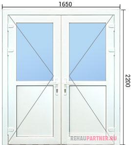 Стоимость пластиковых входных дверей