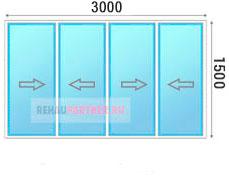 Цена на остекление лоджии раздвижными пластиковыми окнами