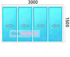 Цена на раздвижные алюминиевые окна для лоджии