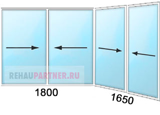 Раздвижные окна для балкона