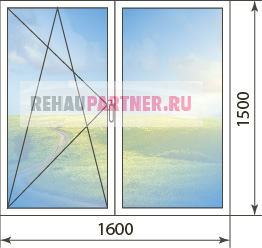 Цены на окна Rehau Euro-Design