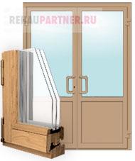 Деревянные двери со штульповым открыванием