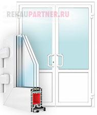 Пластиковые распашные двери без перегородки