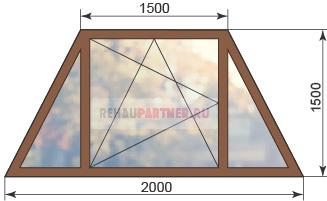 Цена на трапециевидные окна