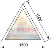 Цена на пластиковые треугольные окна