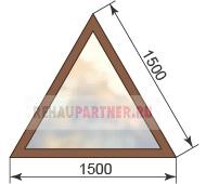 Цена на треугольные окна