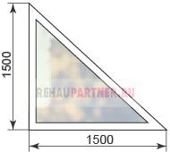 Стоимость треугольных окон
